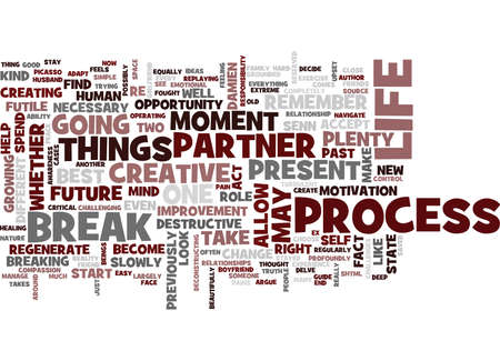 YOU DON T HAVE TO BREAK DOWN WHEN YOU BREAK UP Text Background Word Cloud Concept