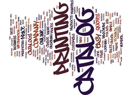 THE EASY WAY TO ORDER CATALOGS Text Background Word Cloud Concept 일러스트