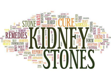 THE KIDNEY STONES MIRACLE CURE Text Background Word Cloud Concept Illustration