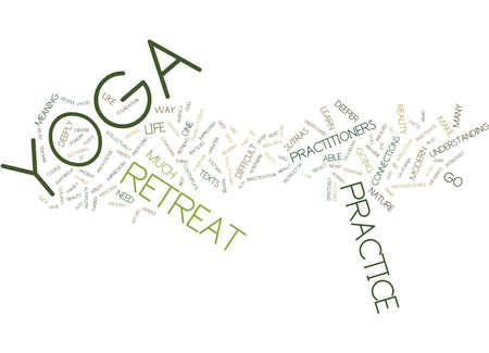 YOGA RETREAT Text Background Word Cloud Concept Ilustração