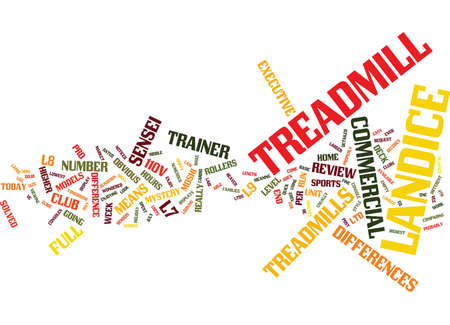 THE LANDICE TREADMILL MYSTERY SOLVED Text Background Word Cloud Concept Illustration