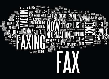 新しい外観 FAX マシン テキスト背景単語雲の概念