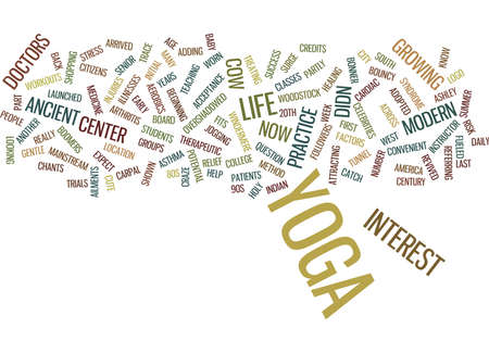 YOGA FOR MODERN CITY LIFE ANCIENT PRACTICE FITS MODERN LIFE Text Background Word Cloud Concept