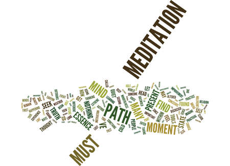 THE PATH Text Background Word Cloud Concept Illustration