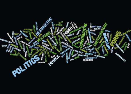 THE NEW POLITICS Text Background Word Cloud Concept Stok Fotoğraf - 82594223