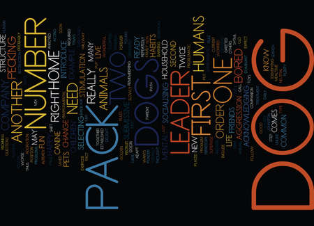 THE NUMBER TWO DOG Text Background Word Cloud Concept