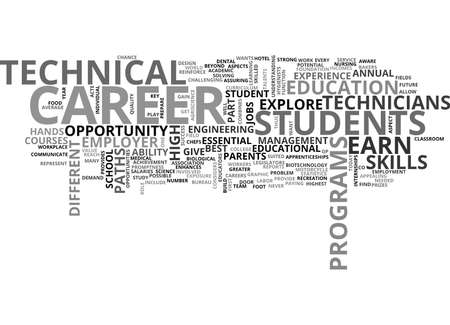 THE OPPORTUNITY TO EXPLORE DIFFERENT CAREER PATHS Text Background Word Cloud Concept Illustration