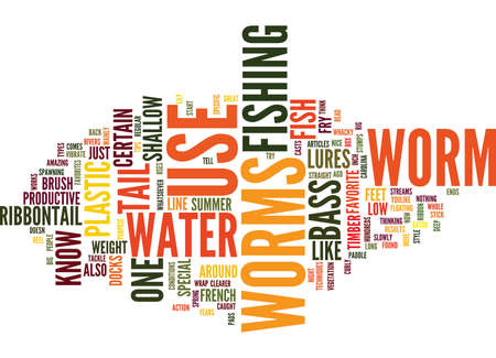 THE LOW DOWN ON WORMS Text Background Word Cloud Concept