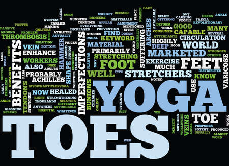 YOGA TOES Text Background Word Cloud Concept