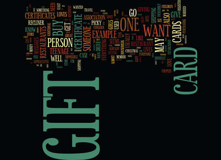YES A GIFT CARD IS A GREAT PRESENT Text Background Word Cloud Concept