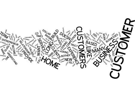 THE INVISIBLE CUSTOMER Text Background Word Cloud Concept Banco de Imagens - 82593952