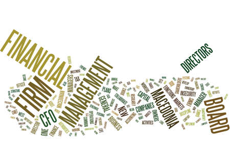 THE INFERNO OF THE FINANCE DIRECTOR Text Background Word Cloud Concept