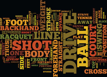 THE DRIVE IN TENNIS Text Background Word Cloud Concept