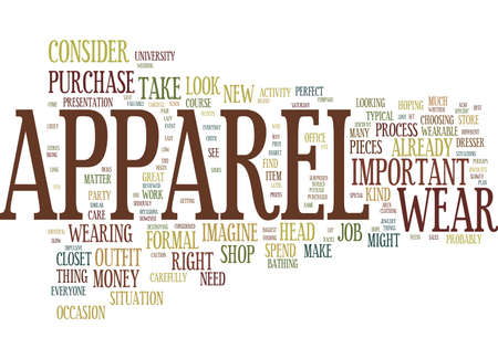 THE PERFECT APPAREL Text Background Word Cloud Concept