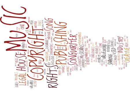 THE LEGAL RIGHTS OF MUSICIANS Text Background Word Cloud Concept