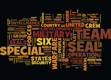 physical pressure: THE MILITARY US TEAM SIX Text Background Word Cloud Concept Illustration