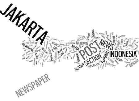 DE JAKARTA POST Tekst Achtergrond Word Cloud Concept