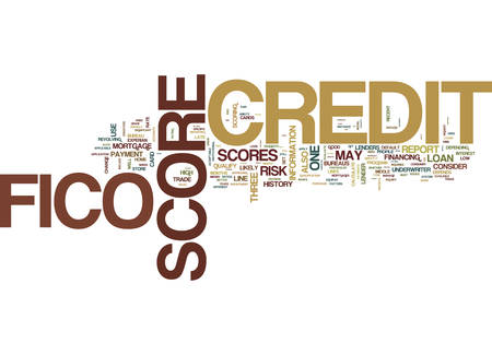 YOU AND YOUR FICO SCORE Text Background Word Cloud Concept