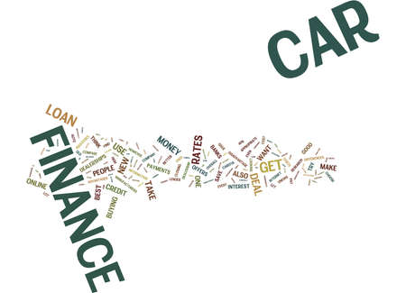 THE ISSUE OF CAR FINANCE Text Background Word Cloud Concept