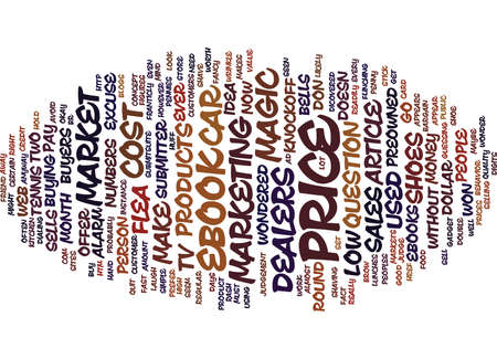 THE MAGIC PRICE TO MARKET YOUR EBOOK Text Background Word Cloud Concept