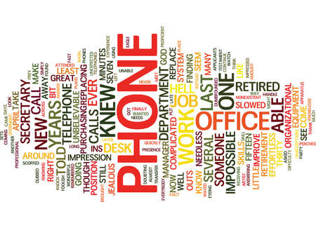 THE PHONE FROM HELL Text Background Word Cloud Concept