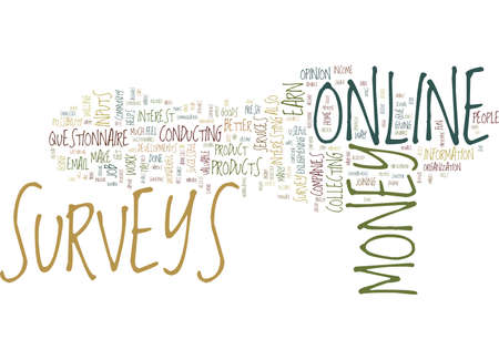 YOU CAN DO ONLINE SURVEYS FOR MONEY Text Background Word Cloud Concept