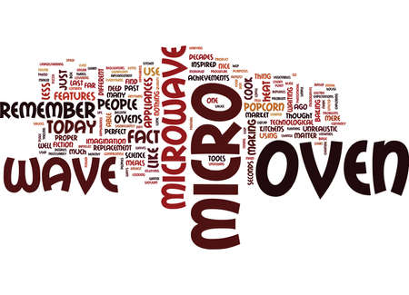 fact: THE MICROWAVE OVEN Text Background Word Cloud Concept