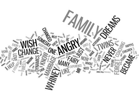 THE MARRIAGE MADE IN HEAVEN BECAME HELL AND BACK AGAIN Text Background Word Cloud Concept Ilustração
