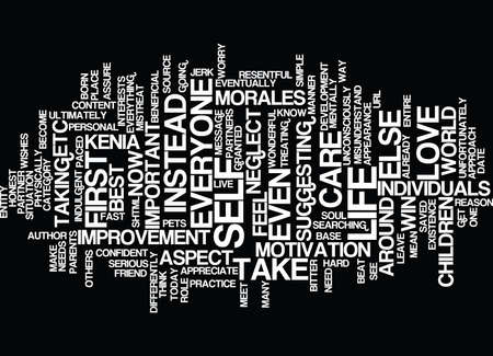 THE MOST IMPORTANT ASPECT IN YOUR LIFE Text Background Word Cloud Concept