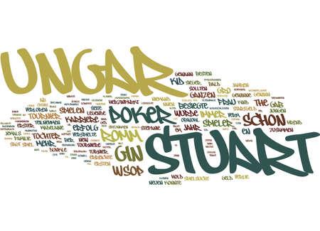 THE KID DIE LEGENDE DES STUART UNGAR Text Background Word Cloud Concept Illustration