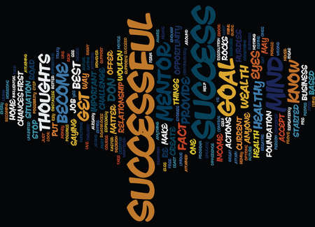 THE KEYS TO SUCCESS Text Background Word Cloud Concept Illustration