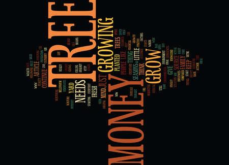 THE MONEY TREE Text Background Word Cloud Concept Ilustração