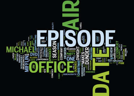 THE OFFICE SEASON DVD REVIEW Text Background Word Cloud Concept