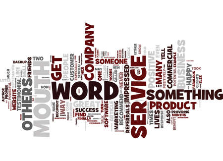 mva: THE POWER OF WORD OF MOUTH Text Background Word Cloud Concept Illustration