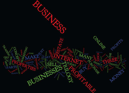 THE PERFECT BUSINESS TRILOGY Text Background Word Cloud Concept