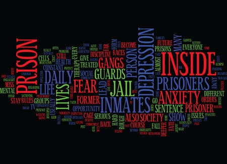 LIFE AFTER PRISON Text Background word cloud concept