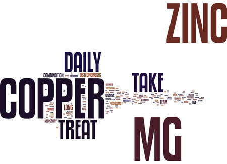 ZINCCOPPER Text Background word cloud concept