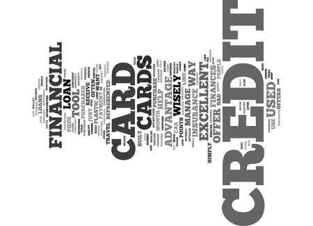 Your Credit Card is a Tool Text Background Word Cloud Concept