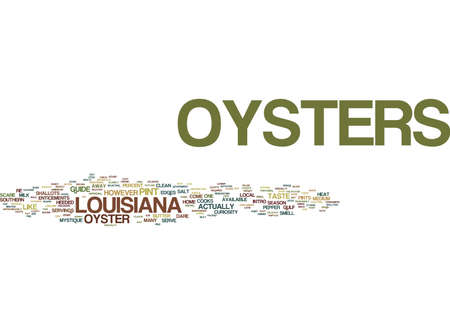 YOUR GUIDE TO OYSTERS Text Background word cloud concept