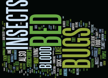 BED BUGS MITES SPRAY Text Background Word Cloud Concept Иллюстрация