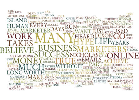 LIFE AS AN ISLAND MARKETER Text Background word cloud concept