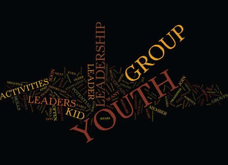 YOUTH LEADERSHIP ACTIVITIES Text Background Word Cloud Concept Illustration