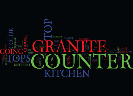 GRANITE COUNTER TOPS PARTI Text Background Word Cloud Concept