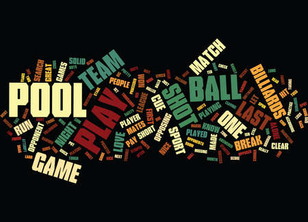 LET S PLAY POOL Text Background word cloud concept Illustration