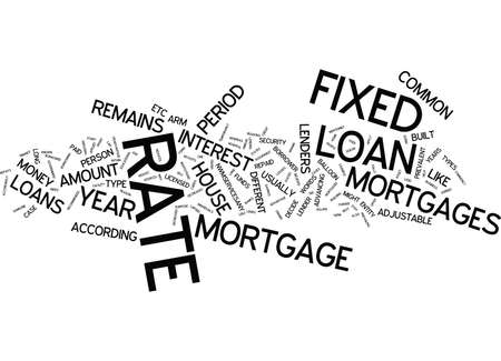 LENDERS AND MOST COMMON TYPE OF LOANS Text Background Word Cloud Concept