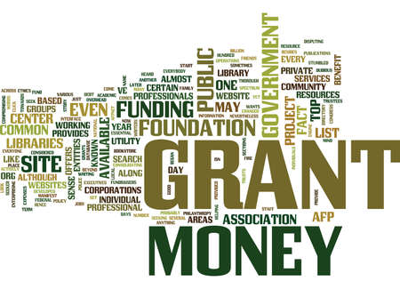 GRANT MONEY Text Background Word Cloud Concept Çizim
