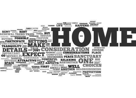 あなたの家は聖域テキスト背景単語雲・ コンセプトです。