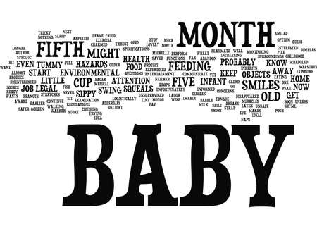 YOUR LITTLE GOURMET BABY S FIFTH MONTH GUIDE Text Background word cloud concept