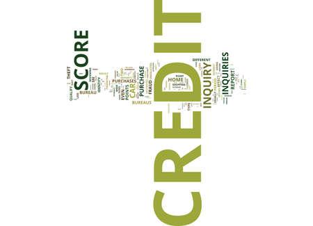 Ihr Credit Score kann durch einfache Kreditanfragen zerstört werden Text Hintergrund Word Cloud-Konzept