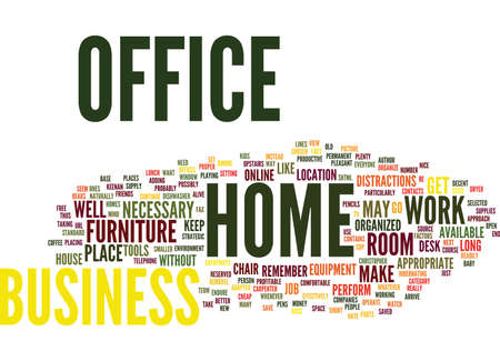 YOUR HOME BUSINESS OFFICE Text Background word cloud concept Stok Fotoğraf - 82599364
